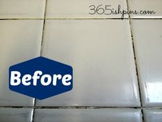 tile grout before