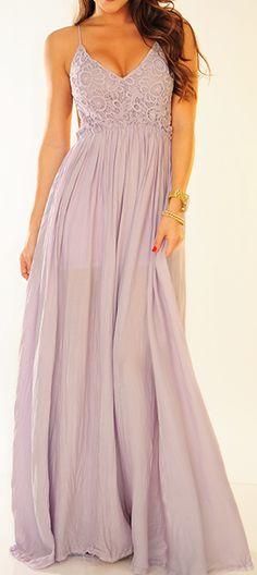 Adorable thin strap maxi dress fashion style