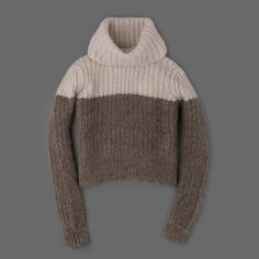 MILL MERCANTILE - BILLY REID - Colorblock Turtleneck in Ivory and Grey