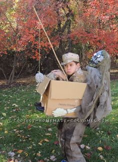 Zombie Freeride Illusion Costume for a Boy...