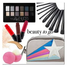 """Beauty On the Go"" by christinacastro830 ❤ liked on Polyvore featuring beauty, Accessorize, Eve Lom, MAC Cosmetics, Maybelline, Eos and travelbeauty"