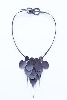 YEH Leather Petal Necklace