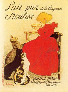 "Read more: https://www.luerzersarchive.com/en/magazine/print-detail/5147.html Poster for ""Pure sterilized milk."" Tags: Theophile-Alexandre Steinlen (Deceased),"