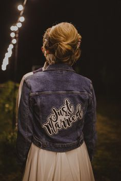 Personalised Bridal Denim Jacket | By Photography34 | Marquee Wedding | DIY Wedding | Garden Wedding | Summer Wedding | Church Wedding | Wildflowers for Wedding | Flower Crown For Bride | Bridal Jacket | Bridal Coverup | Bride Jacket | Wedding Jacket | Bridal Accessories
