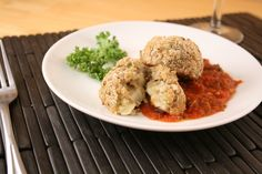 I love that these are baked and not fried!! baked cheesy risotto balls (arancini)