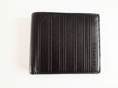 NWT COACH BLEECKER LEGACY LEATHER EMBOSSED DOUBLE BILL 74312 BLACK