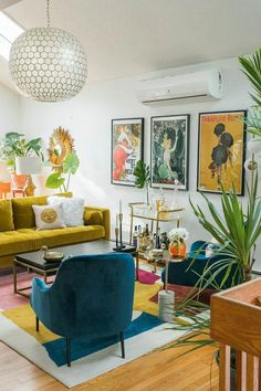 Small Living Room Design, Colourful Living Room, Eclectic Living Room, Boho Living Room, Eclectic Decor, Living Room Designs, Living Room Decor, Bedroom Decor, Eclectic Modern
