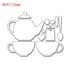 Cheap stencil cutting, Buy Quality stencil stamps directly from China stencil paper Suppliers: Teapot  tea party metal die cutting create decoration Embossing Scrapbooking steel Craft Dies cuts Stamps paper Stencil