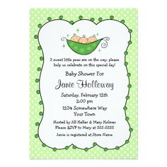265 best triplets baby invitations images on pinterest triplet pea in my pod triplets baby shower invitation filmwisefo