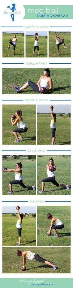 Med Ball Tabata Workout #thedefineddish @thedefineddish