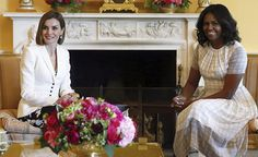 On September 15, 2015, King Felipe and Queen Letizia of Spain meets with US President Barack Obama and First Lady Michelle Obama at the White House in Washington, DC, USA,