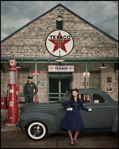 Pop Economy - Driftwood, TX | by Dan Winters • Hollywood, CA - Wired Italia #editorial #Texaco #portrait #retro #vintage