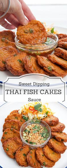 Thai Fish Cakes Recipe- Deliciously easy restaurant quality dish you can create easily at home. - Tap the link to shop on our official online store! You can also join our affiliate and/or rewards programs for FREE! Thai Recipes, Fish Recipes, Seafood Recipes, Asian Recipes, Cooking Recipes, Healthy Recipes, Thai Dishes, Fish Dishes, Seafood Dishes