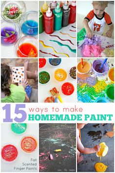 Lots of ways to make homemade paint with things you have right in your kitchen cabinets.