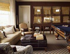 navy cloth on pool table?  i'n liking it!  Urbane billiards. S.R. Gambrel designed.