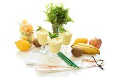 Receta de Sorbete de frutas congeladas con Thermomix Smoothies, Cantaloupe, Potato Salad, Panna Cotta, Dairy, Cheese, Fruit, Ethnic Recipes, Desserts