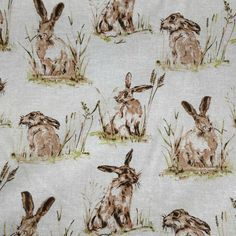 Sew Scrumptious Fabrics - Linen Look - Hares, £2.50 (http://www.sewscrumptious.co.uk/linen-look-hares/)
