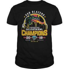 UAB Blazers Cheribundi Boca Raton Bowl Champions 20 18 T shirt Blazers, Champion, Mens Tops, T Shirt, Fashion, Moda, Tee Shirt, Fashion Styles, Blazer