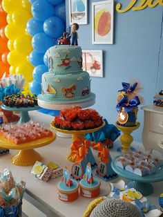 Lucas 1, Candy Table, Party Ideas, Table Decorations, Shower, Space Party, Make Believe, 1 Year, Kids Part