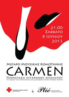 Carmen Ballet Poster by Eleni Papantoniou, via Behance