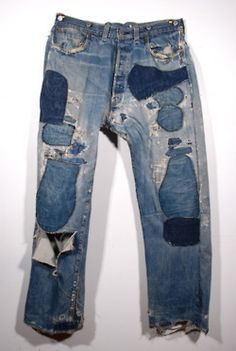 mended via a noble savage << patched up jeans and clothing were predicted to be a big trend this year - maybe next? Don't throw out your holey clothes!
