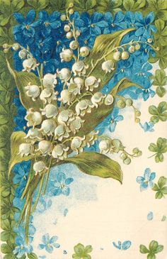 Vintage Lily of the Valley Greetings Card Design . Vintage Pictures, Vintage Images, Love Lily, Victorian Valentines, Art Vintage, Decoupage, Language Of Flowers, Vintage Birthday, May Flowers