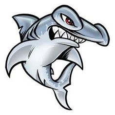 """I like this """"cartoony"""" feel for the hammerhead, and it's orientation like this might work on my arm. I think with the tongue out it could work if the shark is kinda mean but more in a rocker type way, and less in a """"I'm gonna kill you"""" way. Hammerhead Shark Tattoo, Shark Tattoos, Tatoos, Tribal Shark, Shark Art, Zoids, Aliens, Optical Illusion Tattoo, Shark Drawing"""