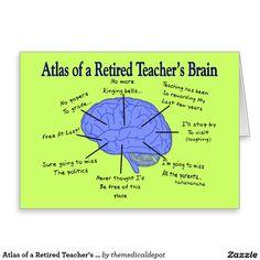 Atlas del cerebro Gfits de un profesor jubilado Tarjeta De Felicitación