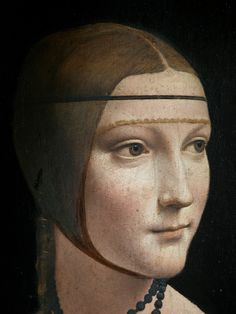 Detail of the Lady with an Ermine (Portrait of Cecilia Gallerani) by Leonardo da Vinci, ca. 1489-1490 (PD-art/old), Muzeum Czartoryskich