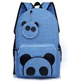 New Panda Cartoon Fashion Design Large-Capacity Quality Backpack 5 Colors