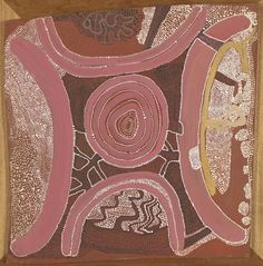 Shorty Lungkata Tjungarrayi, Old man's Dreaming, 1972, synthetic polymer paint on composition board, 63.3 x 62.7 cm. (irreg). National Gallery of Victoria, Melbourne.