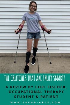 I discovered a pair of crutches called smartCRUTCH ™- definitely a game changer! They are comfortable, adjustable AND fashionable Chronic Illness, Chronic Pain, Kids Braces, Adaptive Equipment, Mobility Aids, Crutches, Game Changer, Special Needs, Go Shopping