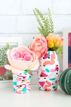 Make your own Faux Terrazzo Clay Vases - A Kailo Chic Life