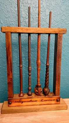 Potter wand Display Magic Wand Holder Holds 4 by MysticMossWoods