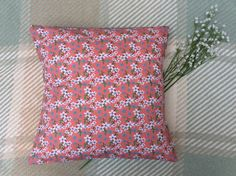 Items similar to Handmade Floral Cushion on Etsy Floral Cushions, Sally, Coral, Throw Pillows, Quilts, Blanket, Sewing, Unique Jewelry, Handmade Gifts