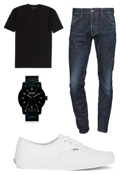 """teen boy"" by imetardon on Polyvore featuring Dsquared2, Vans, Nixon, men's fashion and menswear"