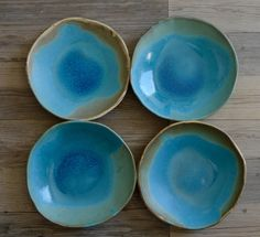 Ceramic pasta bowls - turquoise bowls -set of 4- Tableware Pasta BOWLS dinnerware - dinner plates wedding gifts by BlueDoorCeramics on Etsy