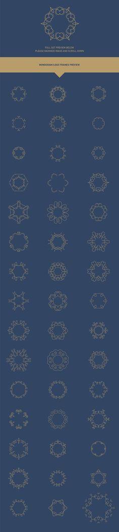 45 monograms/logos frames by Damien on @creativemarket