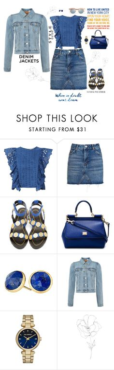 """My Love For Denim"" by jenily ❤ liked on Polyvore featuring Sea, New York, Topshop, Kenzo, Dolce&Gabbana, Marco Bicego, Levi's, Karl Lagerfeld, Blume and Le Specs"