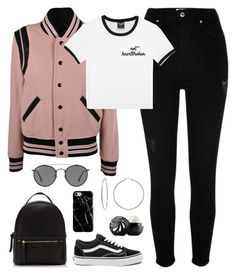 """""""484"""" by giniiimo88 ❤ liked on Polyvore featuring Yves Saint Laurent, River Island, Vans, Evie & Emma, Recover, Ray-Ban and Eos"""
