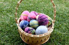 Felted Easter Egg Tutorial full basket waldorfmoms