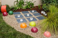 Make a jumbo version of the classic naughts and crosses game for your backyard - it's a great way to get the kids outside!