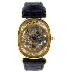 Skeleton Gold Watch