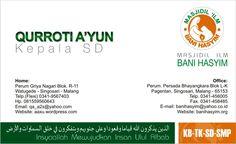 Kartu Nama Kepala SD Bani Hasyim
