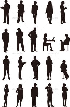 Business People Silhouette - People Characters
