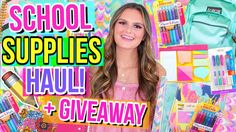 HUGE School Supplies Haul + Giveaway! | Back to School 2017!