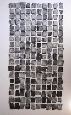 Margaret Boozer, Black Pacific, black stoneware and porcelain, x Wall Sculptures, Sculpture Art, Contemporary Ceramics, Contemporary Art, Bokashi, Photo D Art, Ceramic Wall Art, Paperclay, Installation Art