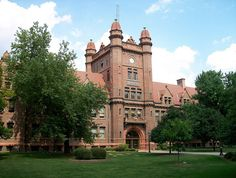 Shilling Hall at Millikin University in Decatur, Illinois was built in 1902 and dedicated by President Theodore Roosevelt.