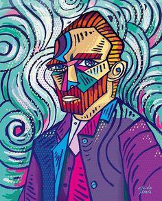 Pieza de Claudio Limon Fine Art Digital Print / # van gogh self portrait Arte Van Gogh, Van Gogh Art, Vincent Van Gogh, Desenho Harry Styles, Van Gogh Self Portrait, Cubism Art, Art Plastique, Aesthetic Art, Oeuvre D'art