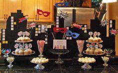 real parties: a super-crafty superhero party 50th Party, 4th Birthday Parties, Girl Birthday, Birthday Ideas, Superhero Theme Party, Batman Party, Spiderman, Construction Party, Family Birthdays